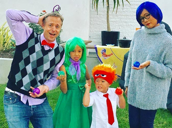Inside Out family costume idea for Halloween