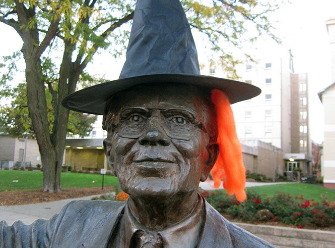 Iowa City Halloween statue