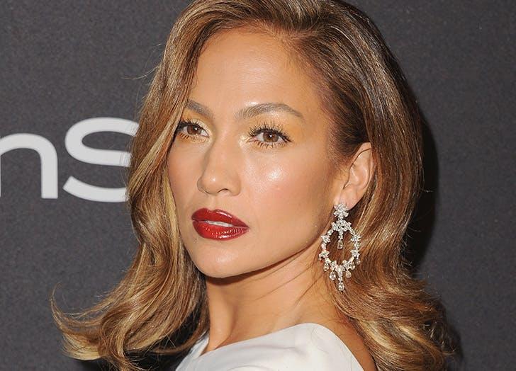 Jennifer Lopez in white dress