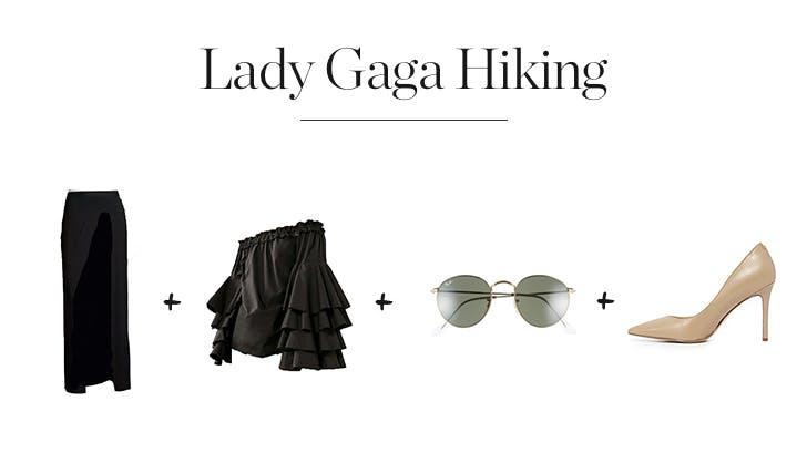 Lady Gaga Hiking