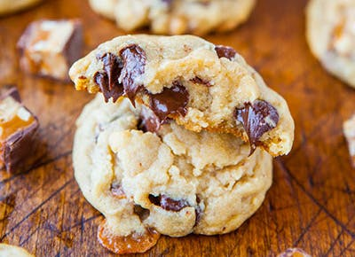 Leftover Snickers Cookies 400