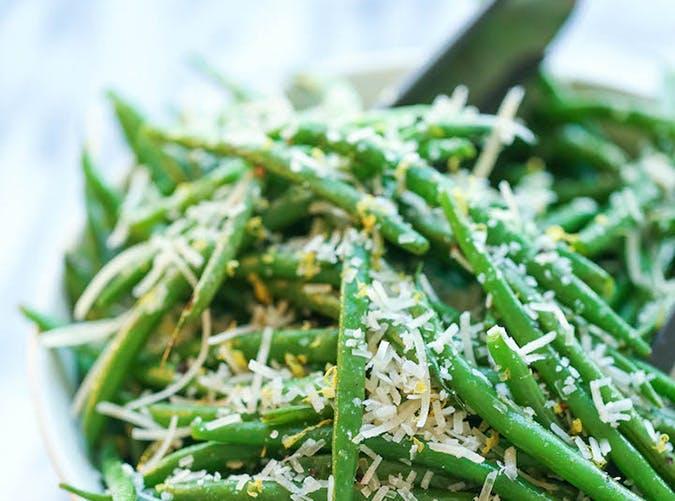 Lemon Parmesan Green Beans recipe