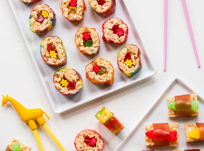 Marshmallow Treat Sushi