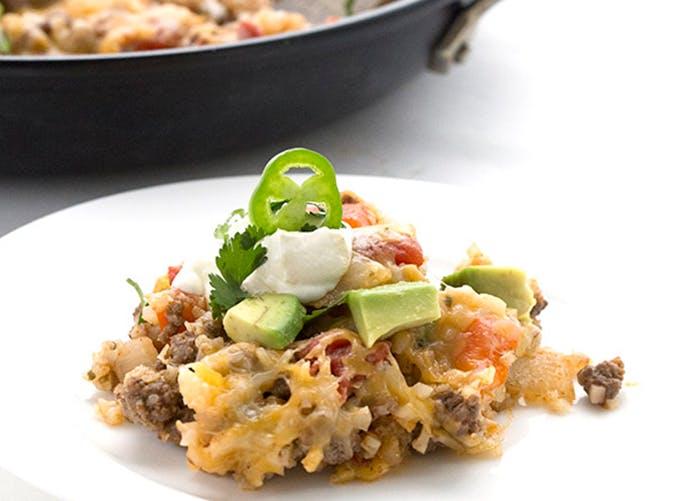Mexican Cauliflower Rice Skillet