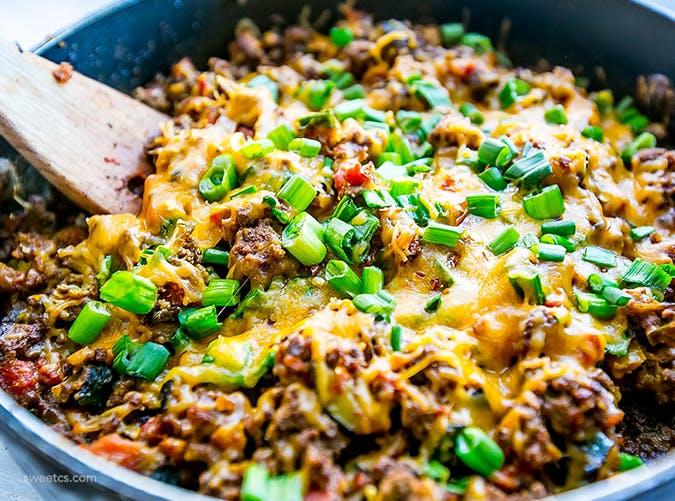 One Pot Cheesy Taco Skillet