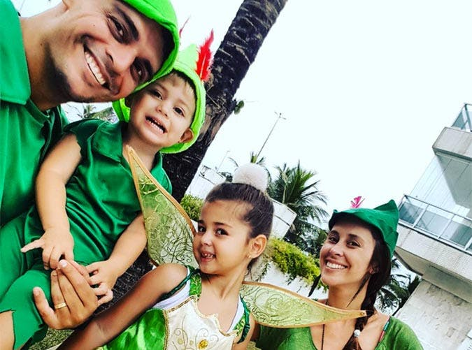 Peter Pans and Tinkerbell Halloween family costume