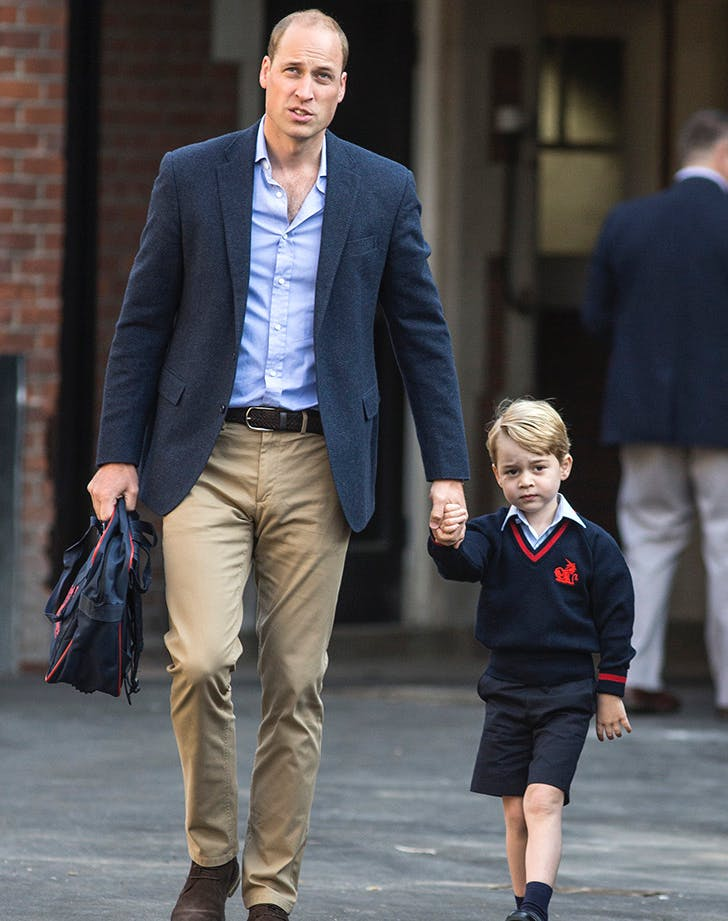 Prince William Prince George first day of school1