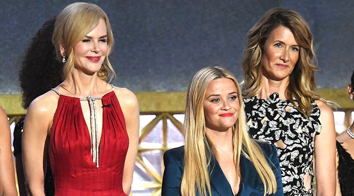 Reese Witherspoon Looks Like a Big Little Lie Next to Costars Laura Dern and Nicole Kidman at the Emmys