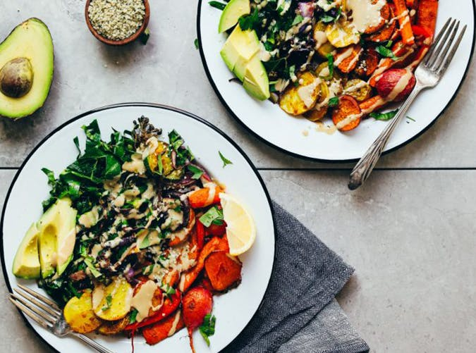 22 vegetarian whole 30 lunch and dinner recipes purewow roasted rainbow vegetable bowl vegetarian whole30 recipes forumfinder