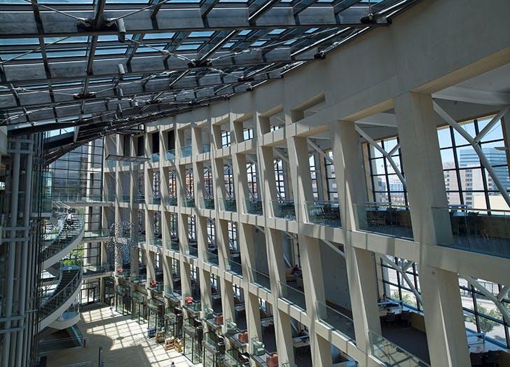 Salt Lake City Public Library interior in Utah