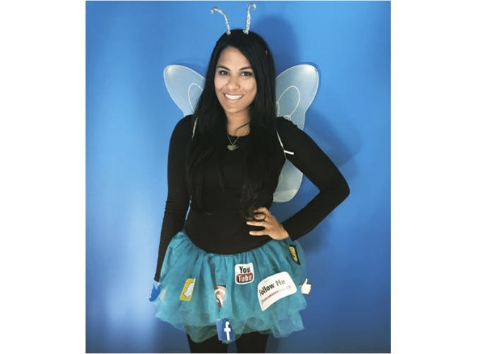 Social Butterfly funny costume idea for Halloween