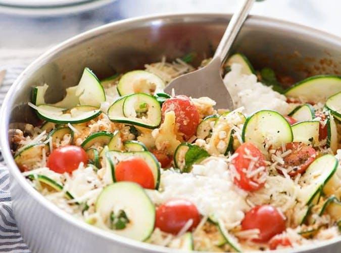 Spinach Artichoke Skillet Zucchini Lasagna