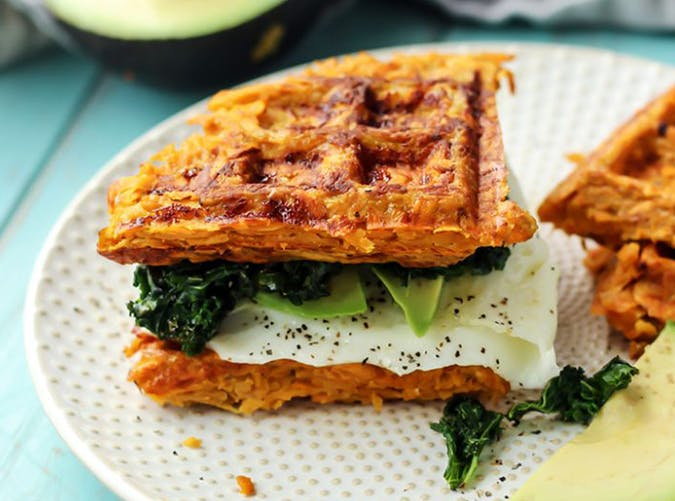 22 vegetarian whole 30 lunch and dinner recipes purewow sweet potato waffle breakfast sandwich vegetarian whole30 recipes forumfinder Image collections