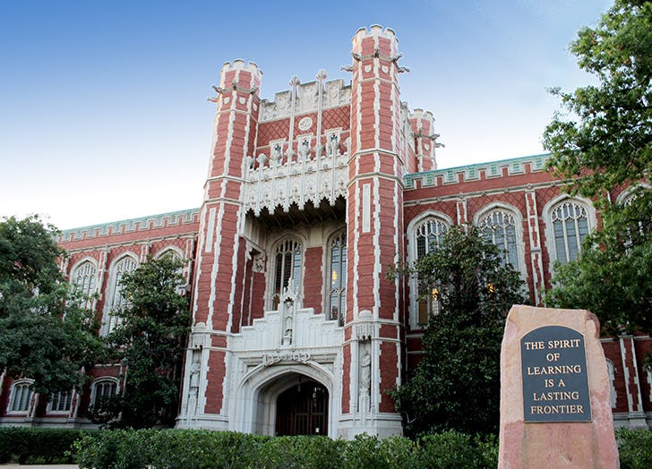 The Bizzell Memorial Library in Oklahoma