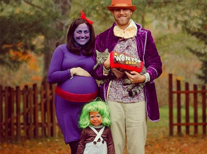 Willy Wonka and the Chocolate Factory Halloween family costume idea