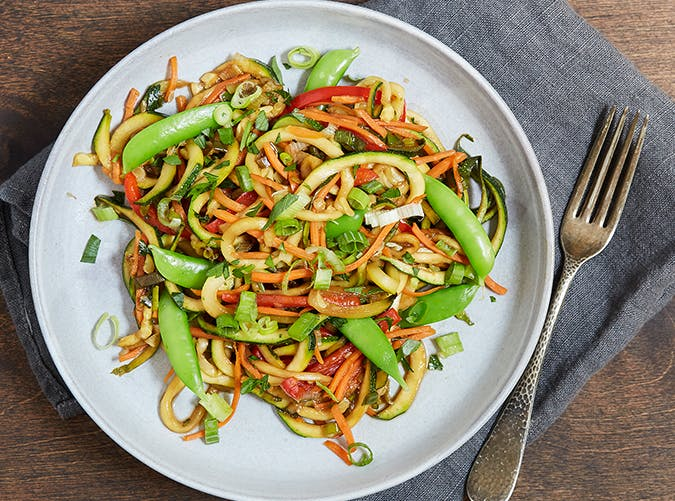Zoodle Stir Fry vegetarian whole30 recipes