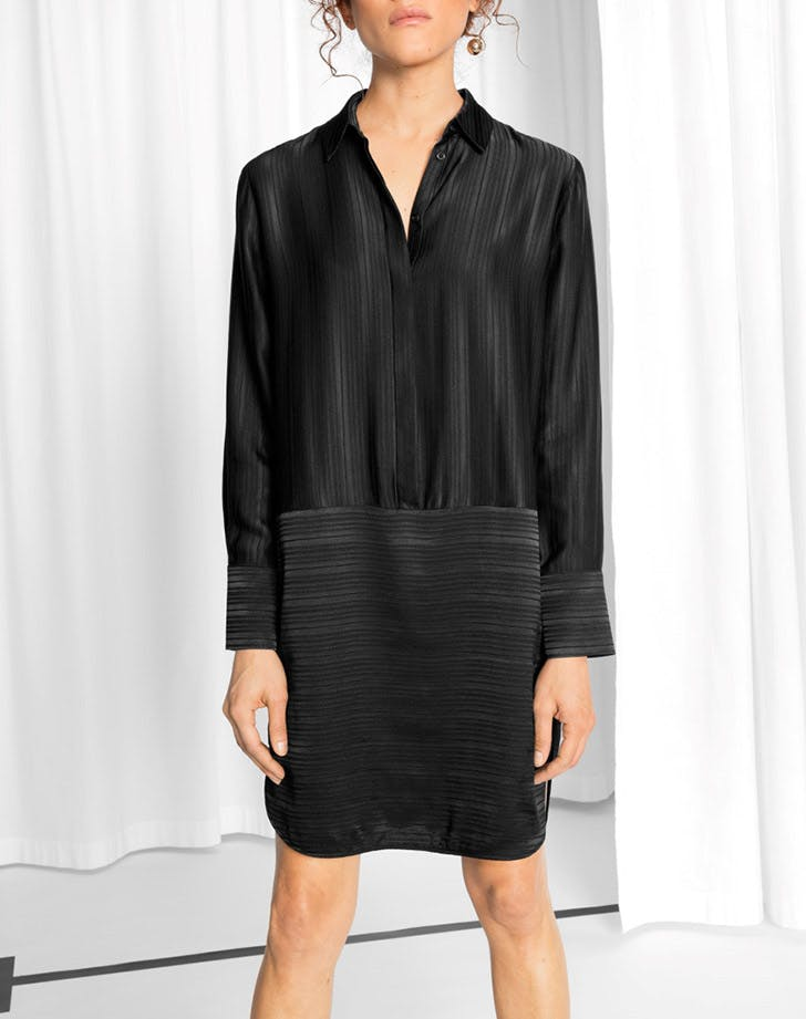 and other stories satin shirt dress NY