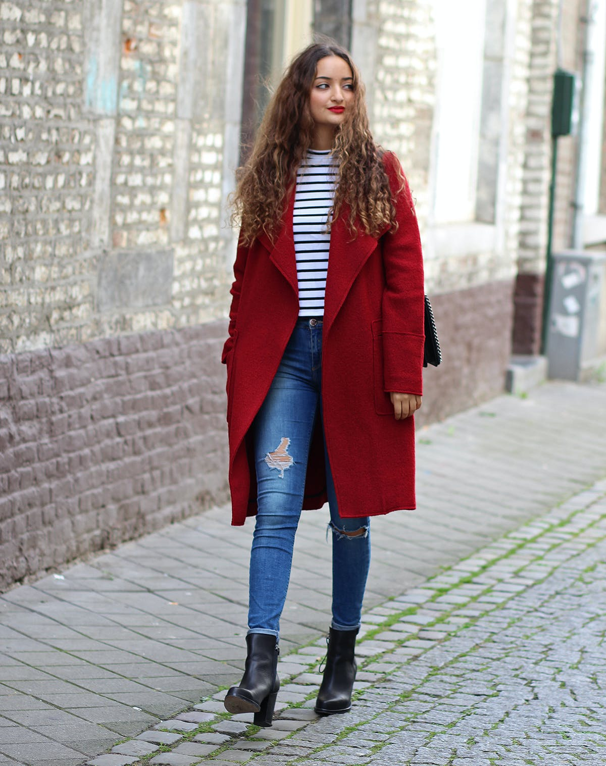 anything red fall coat trends