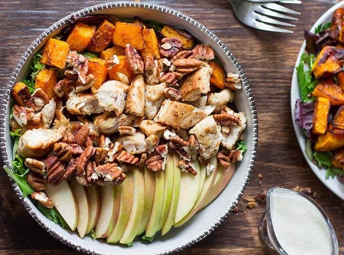 apple butternut chicken salad 501