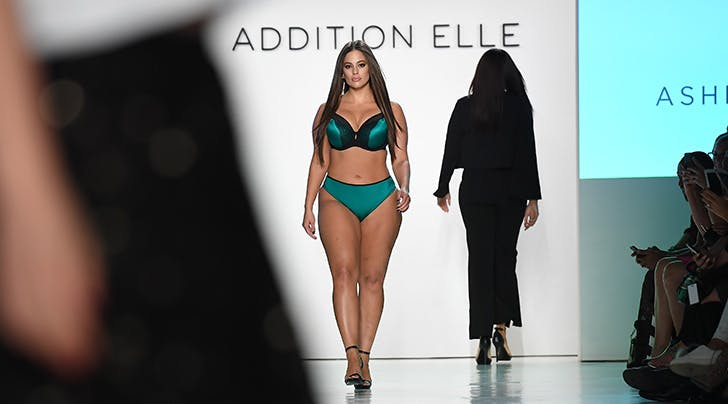 Lingerie-Clad Ashley Graham Is Body Confidence #Goals at NYFW