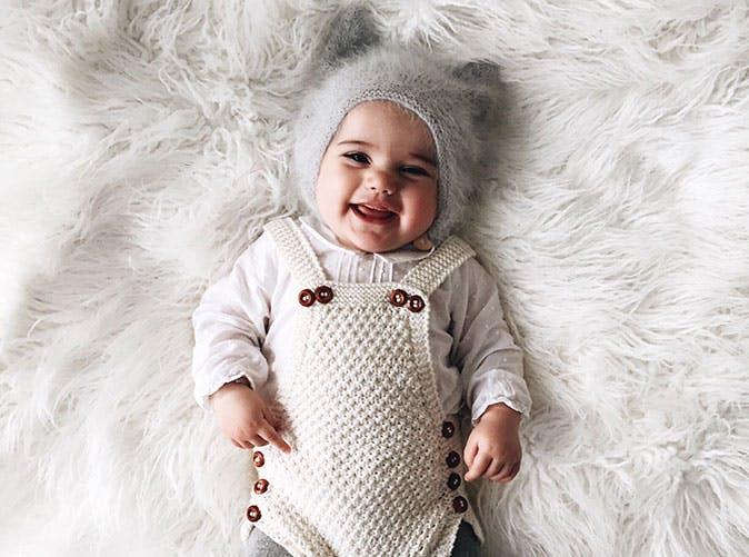 baby boy lying on furry blanket 501