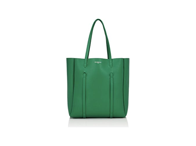 balenciaga everyday green tote bag