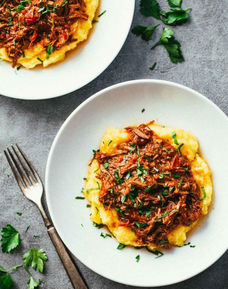 beef ragu with polenta