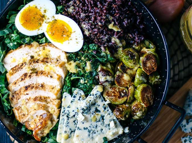 chicken kale and brussels sprouts salad 501