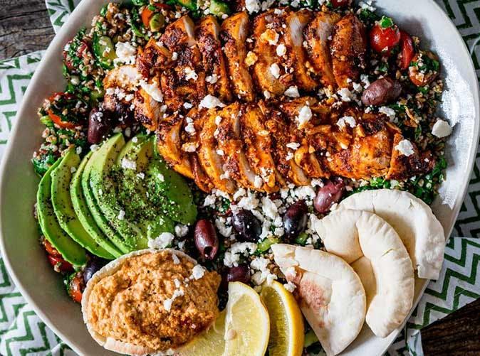 chicken shawarma tabbouleh salad 501