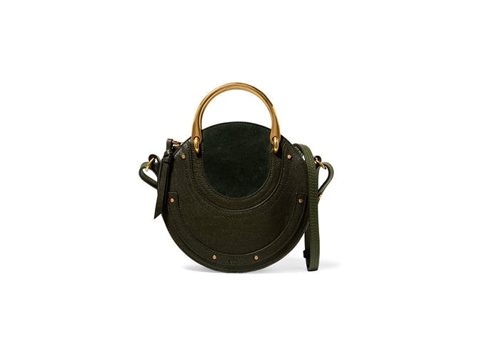 chloe round olive green bag