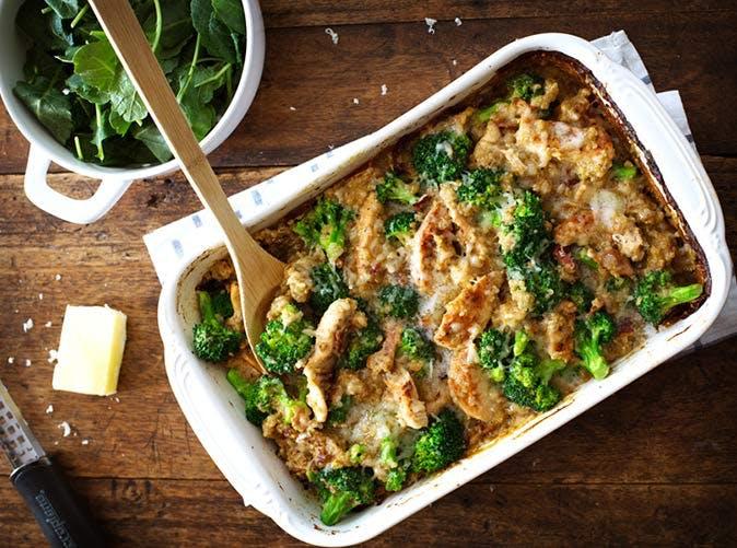 creamy chicken quinoa and broccoli casserole 501