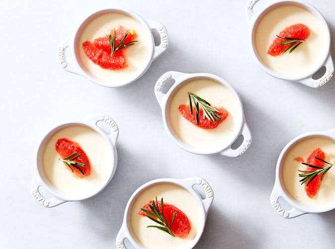 creme fraiche panna cotta ginger rosemary poached grapefruit 501