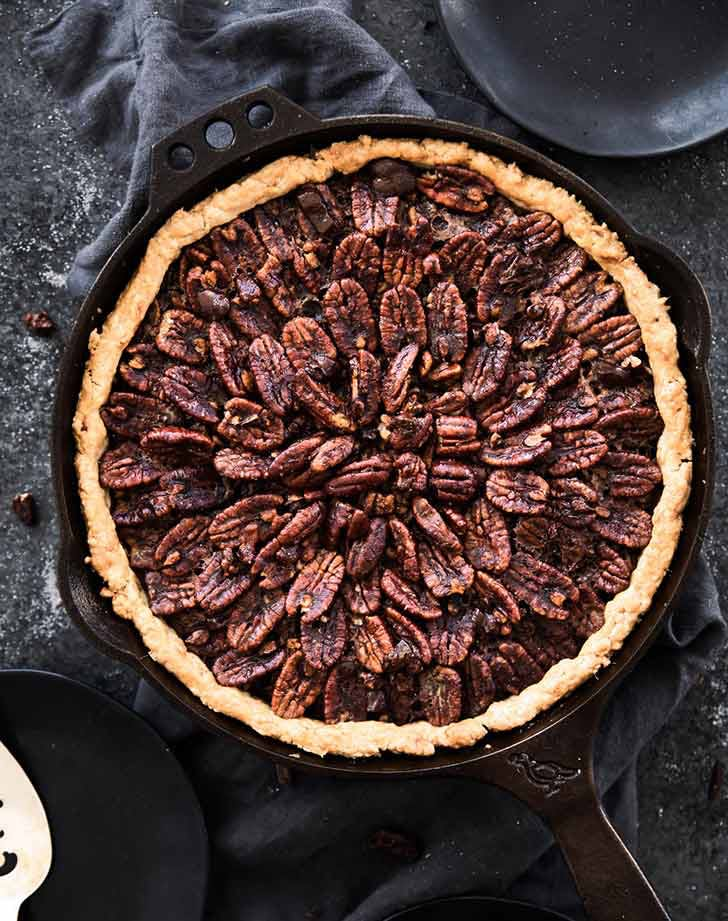 deep dish double chocolate pecan pie 921