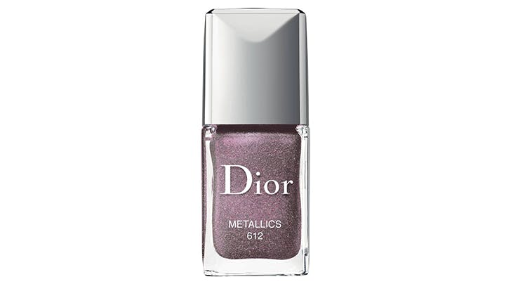 dior shimmery plum fall nail color trends