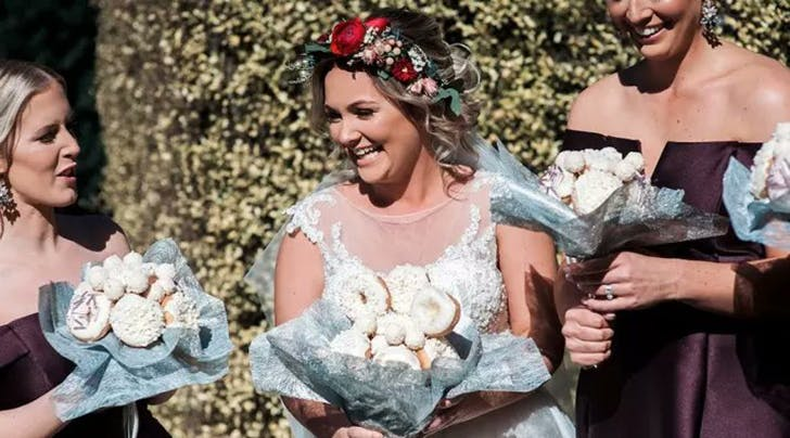 This Legendary Bride Carried a Bouquet of Doughnuts at Her Wedding and Now Were Hungry