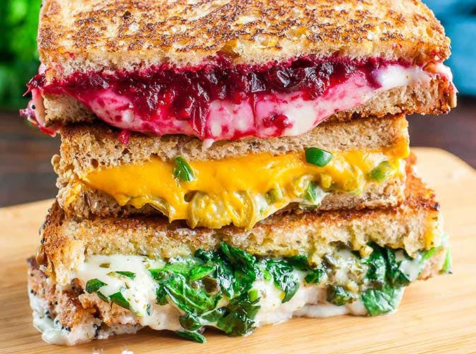 extra cheesy vegan grilled cheese three ways 501