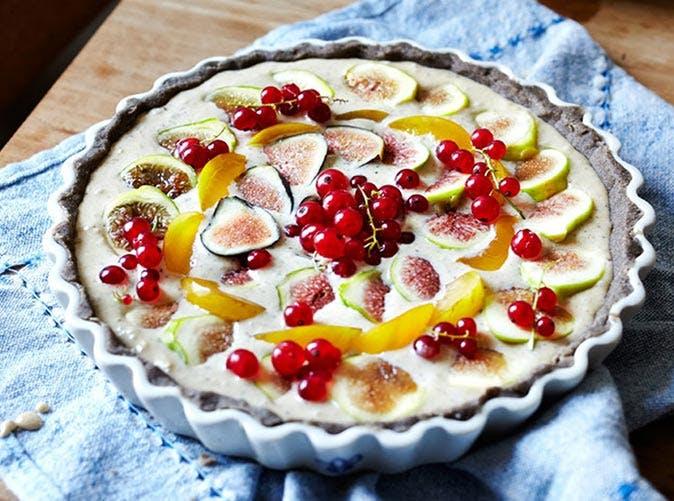 fig hazelnut cream tart buckwheat crust 501