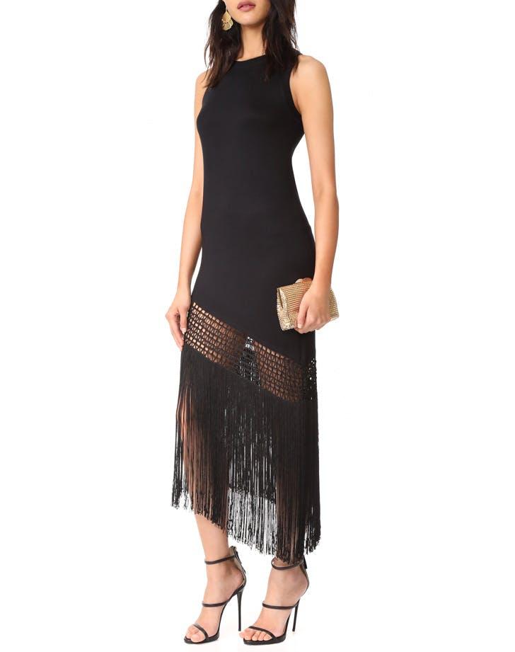haute hippie fringe dress NY