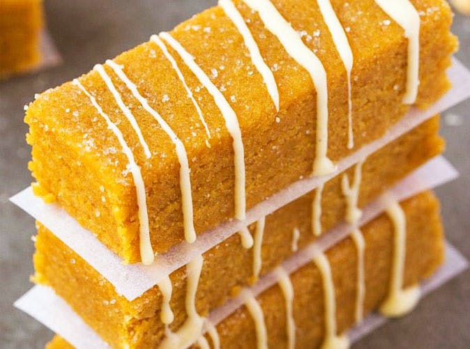 healthy no bake pumpkin spice latte bars 501