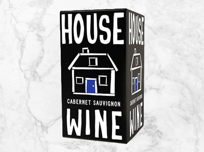 house boxed red wine 501