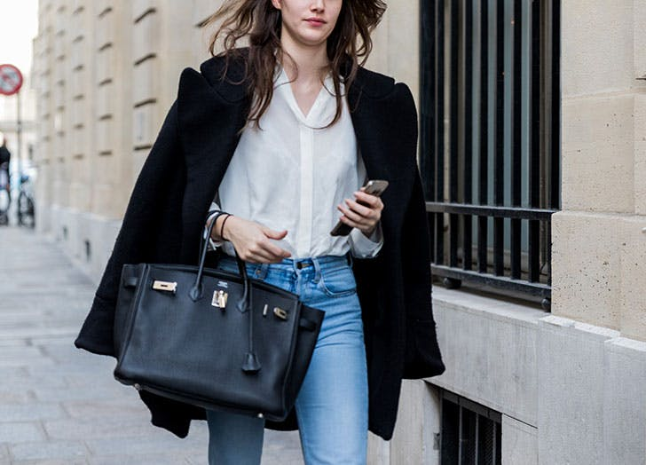 how to wear jeans to work black and white