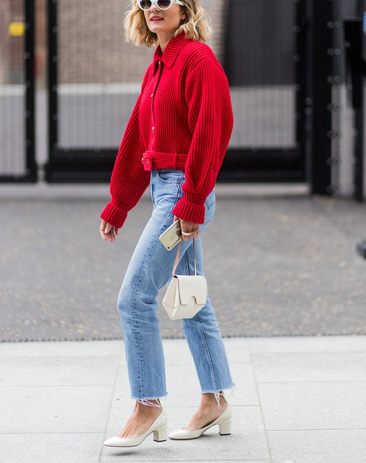 how to wear jeans to work cropped jacket
