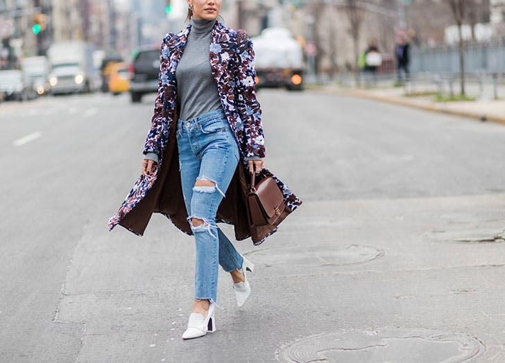 how to wear jeans to work floral jacket