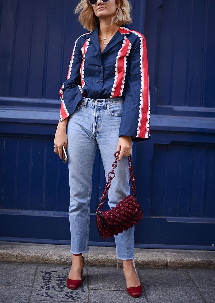 how to wear jeans to work pajama top