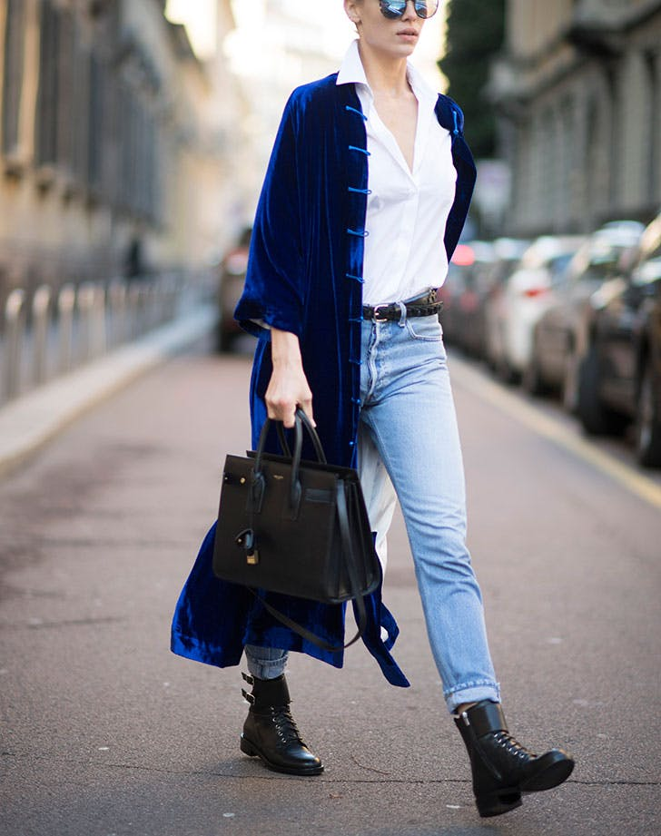how to wear jeans to work velvet