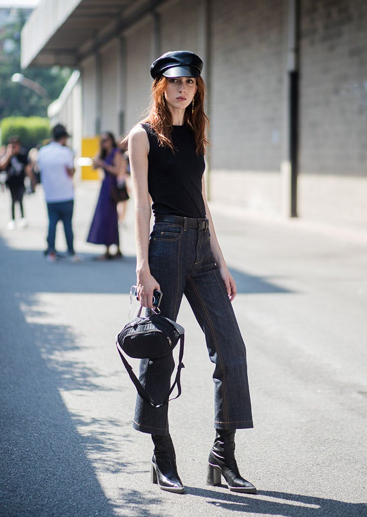 how to wear newsboy caps all black