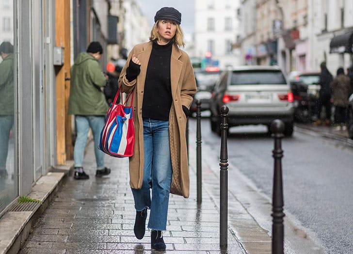 how to wear newsboy caps camel coat