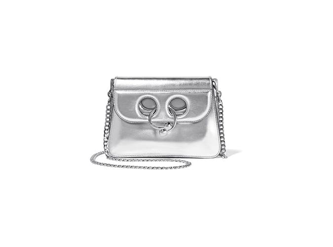j.w. anderson metallic shoulder bag