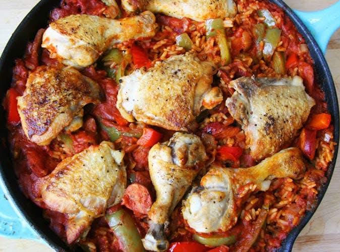 jambalaya with chicken and chorizo 501