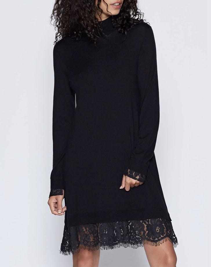 joie lace trim sweater dress NY